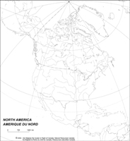 Blank empty Map of CAN Provinces