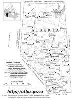 Alberta Outline Map