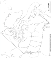 Canada Outline Map