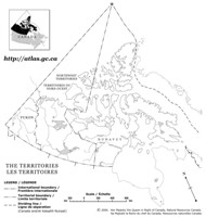 Northern Canada Outline Map