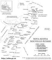 Nova Scotia Outline Map