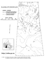 Saskatchewan Outline Map