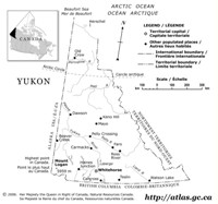 Outline government Map of YK Territory