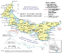 Political color Map of PE Province