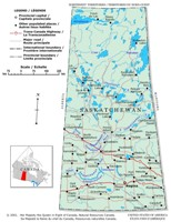 Saskatchewan Political Map