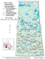 Saskatchewan Political Map