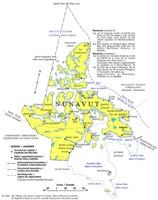 Nunavut Political Map