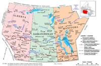 Prairies Political Map