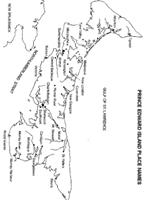 Prince Edward Island Printable Map