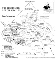 Reference government Map of YK Territories