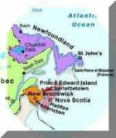 Regional political Map of NS Provinces