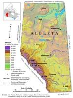 Alberta Relief Map