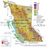 British Columbia Relief Map