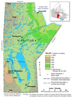 Manitoba Relief Map