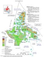 Nunavut Relief Map