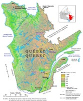 Quebec Relief Map