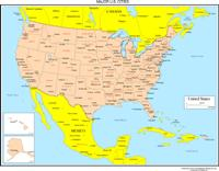 US Canada Maps Online YellowMaps World Atlas - Map of us states and canada