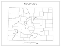 Colorado Blank Map