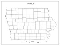 Iowa Blank Map