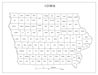 Iowa Labeled Map