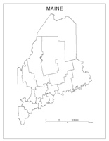 Maine Blank Map