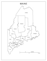Maine Labeled Map