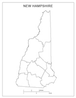 Blank county Map of NH State