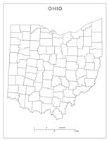 Ohio Blank Map