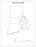 Blank county Map of RI State