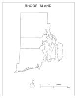 Rhodeisland Blank Map
