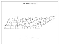 Tennessee Blank Map