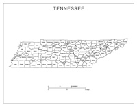 Labeled county Map of TN State