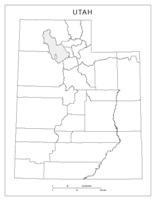Utah Blank Map