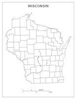 Wisconsin Blank Map
