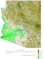 Arizona Contour Map