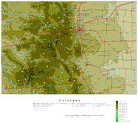 Colorado Contour Map