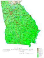 Georgia Contour Map