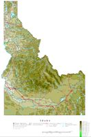 Idaho Contour Map