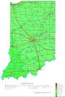 Indiana Contour Map