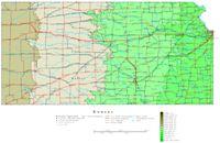 Kansas Contour Map