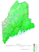 Maine Contour Map