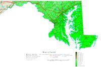 Maryland Contour Map