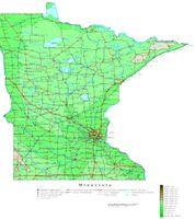 Minnesota Contour Map