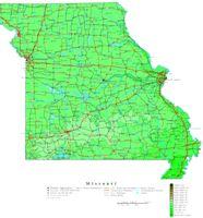 Missouri Contour Map