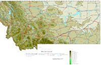 Montana Contour Map