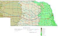 Nebraska Contour Map