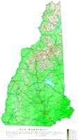 Contour elevation Map of NH State