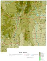 Contour elevation Map of NM State