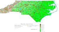 North Carolina Contour Map