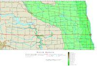 North Dakota Contour Map